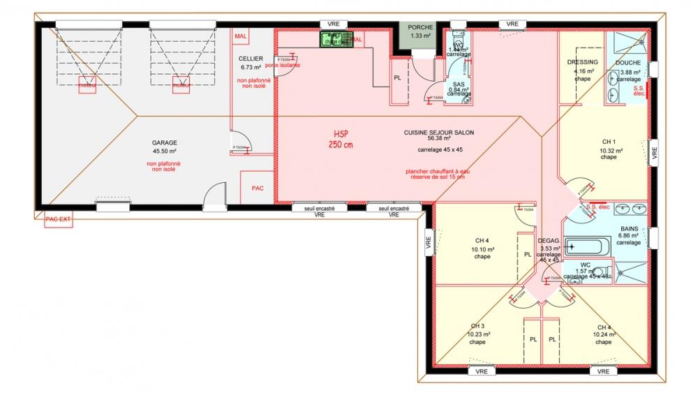 Maisons Plain Pied 4 Chambres De 120 M Construite Par Demeures Familiales